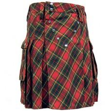 Red Tartan Scottish Kilt