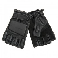 Fingerless Leather Motor Gloves