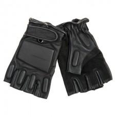 Fingerless Leather Motor Gloves