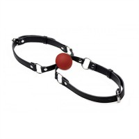 Kiss Me Gag With Ø 45 mm. Ball - Black | Red