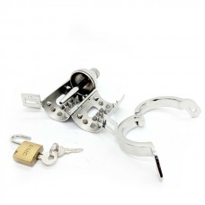 Black Label The Pleasure Dome Stainless Steel Chastity Cage