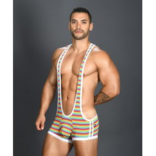 Andrew Christian Pride Rainbow Stripe Singlet w/ Almost Naked