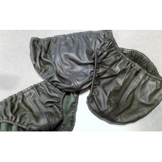 Elasticated Leather Briefs