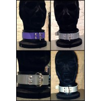 Collar with Stripe: VIOLET & SILVER