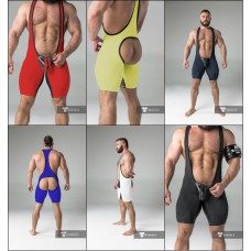 Maskulo Backless Wrestling Singlet with Codpiece