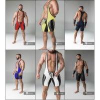 Padded Wrestling Singlet with Codpiece