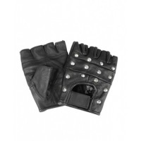 Studded Fingerless Gloves