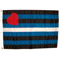 Leather Pride Flag, Stitched