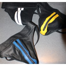 Striped Leather Jockstrap