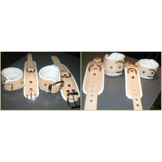 Natural Look Striped Leather Restraints
